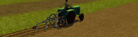 Old Plough With Metal Wheels v 1.2