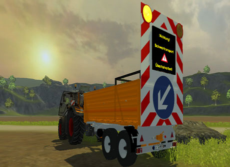 Fliegl Tdk Warnwagen on Massey Ferguson Warning Lights