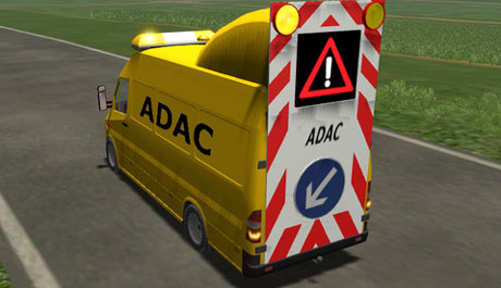 Mercedes Sprinter Mit Warntafel Im Adac Skin Bgf Cdi on Massey Ferguson Warning Lights