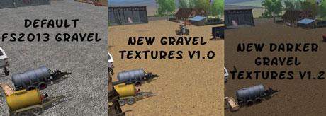 New Darker Gravel Textures v 1.2