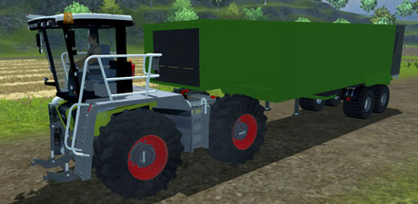 Claas Xerion Saddle Trac With Mulde v 0.1