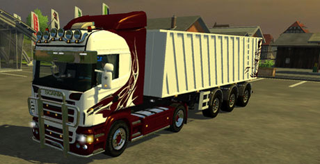 Scania Highline + New Trailer v 1.0