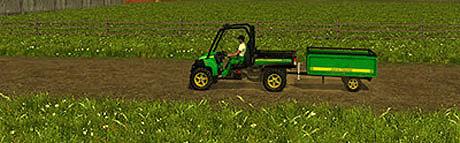 John Deere Gator 825I v 2.0 With Trailer