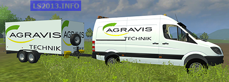 Mercedes Sprinter With Trailer v 3.0