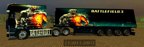 Scania Longline BF3 v 1.0 With 4 Axle Trailer
