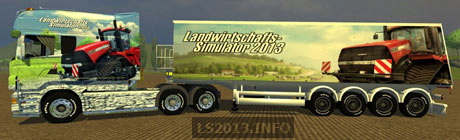 Scania Longline LS 2013 v 1.0 With 4 Axle Trailer
