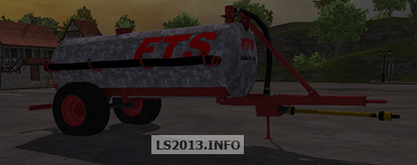 FTS Single Axle Slurry Tanker Barrel v 1.0