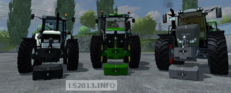 Easy Black Gray and Green Weights 900 KG v 1.0