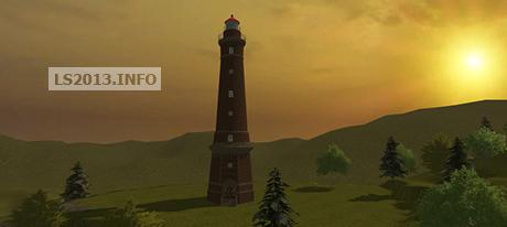 New lighthouse of Borkum