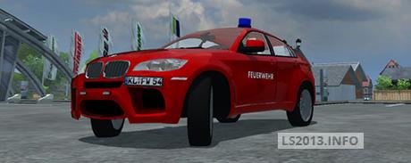 BMW X 6M Police v 1.0