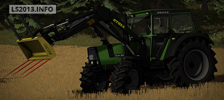 Deutz DX 90 with Frontloader v 1.0