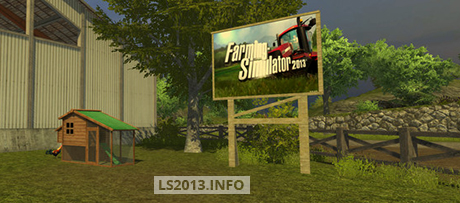 Farming Simulator Placeable Sign v 1.0