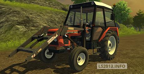 Zetor 5211 with Frontloader v 1.0