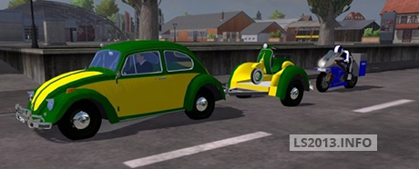 Volgswagen-Beetle-with-Vespa-Trailer