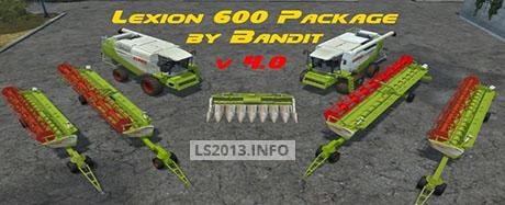 Claas Lexion 600 Pack v 4.0