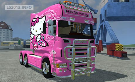 Scania-Longliner-Hello-Kitty-Skin-v-1.0