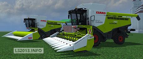 in pack includes claas lexion 780 combine claas lexion 780 terra trac