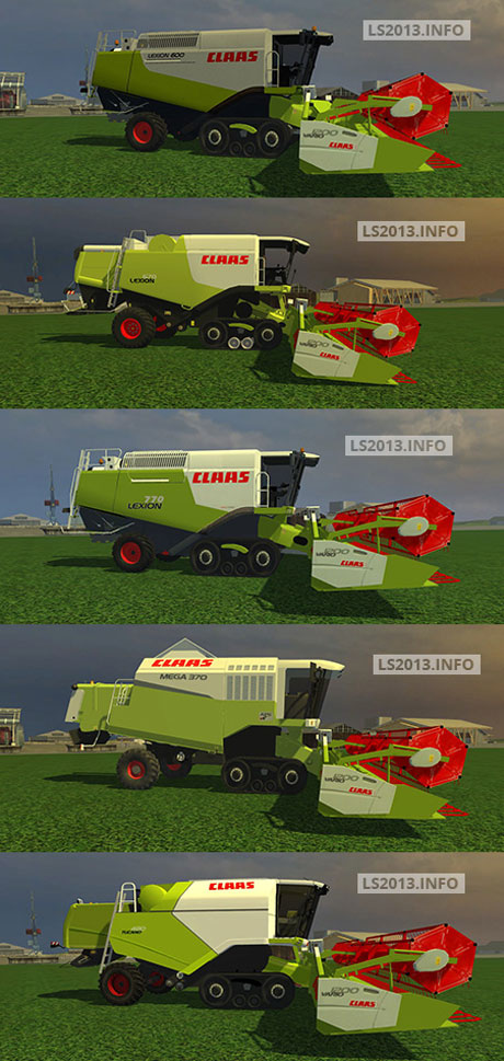 Claas Terra Trac Combines Pack