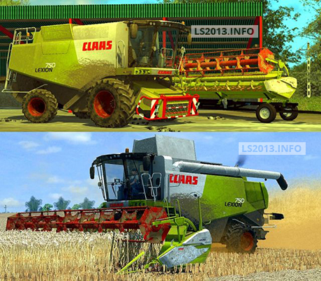 Claas Lexion 750 Dirt