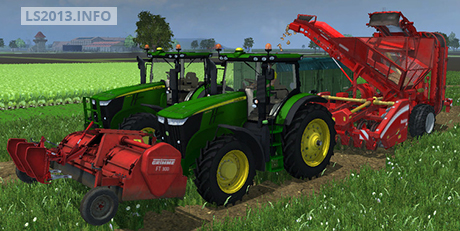 Grimme FT300 and Beet Harvester Combine v 1.0
