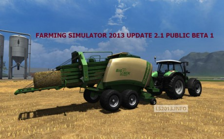 Farming Simulator 2013 Update 2.1 Public Beta 1