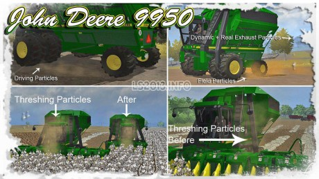 John Deere 9950 Cotton Combine v 1.2