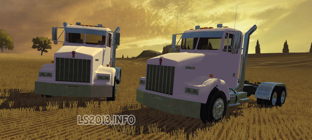 In pack includes 2 versions kenworth t800 trucks
