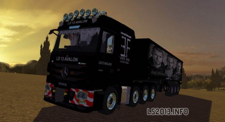 Mercedes Benz MP3 + Trailers + Dolly
