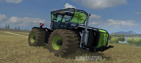 Claas-Xerion-5000-Black-Fluo-Fores-Dirt