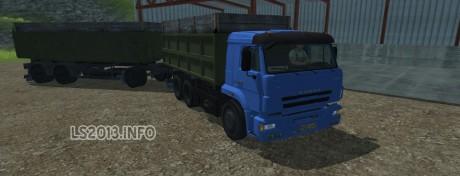 Kamaz-Euro-420-Turbo+Trailer-v-2.0
